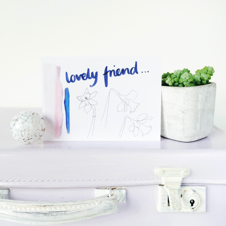 lovely friend postcard 2