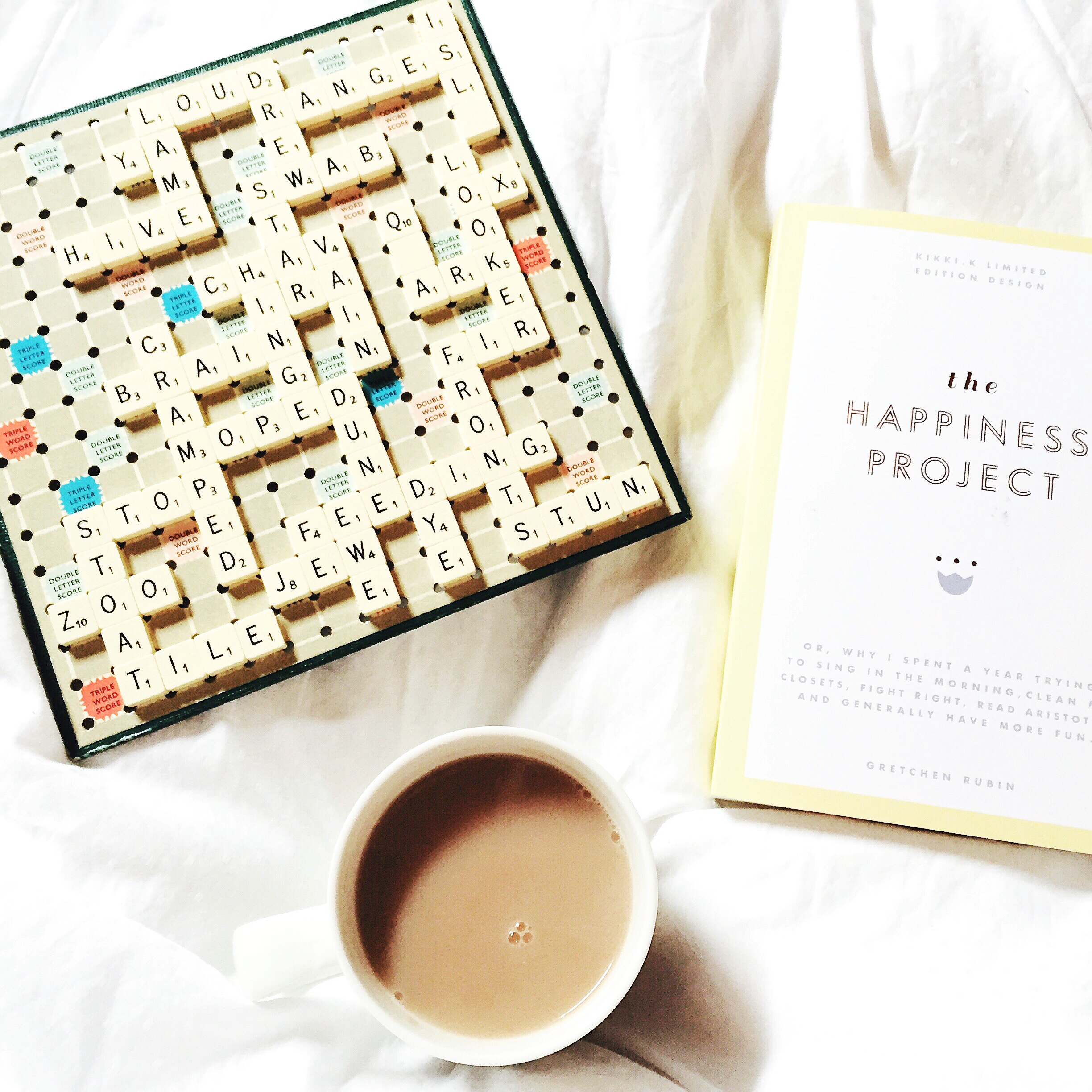 scrabble and tea