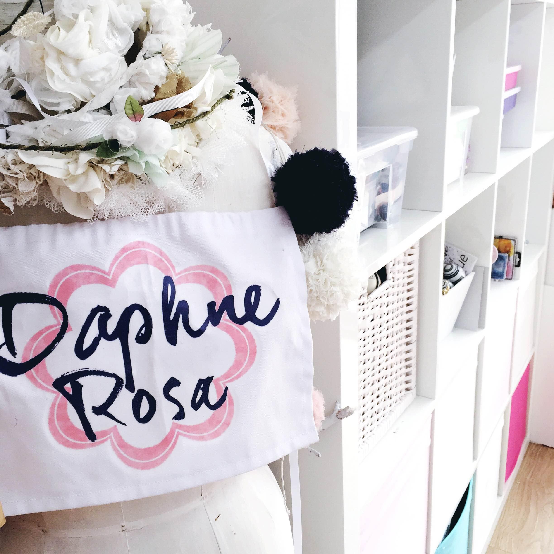 daphnerosa banner in studio