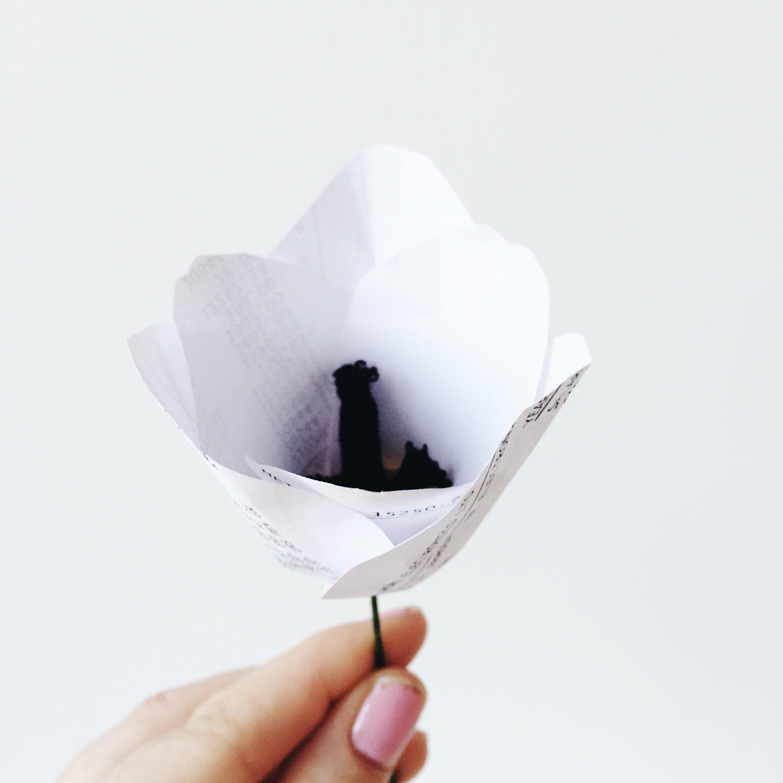 handmade paper tulip
