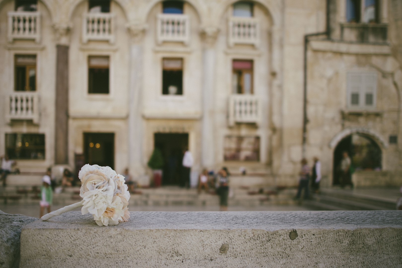 fabric bouquet real wedding Croatia
