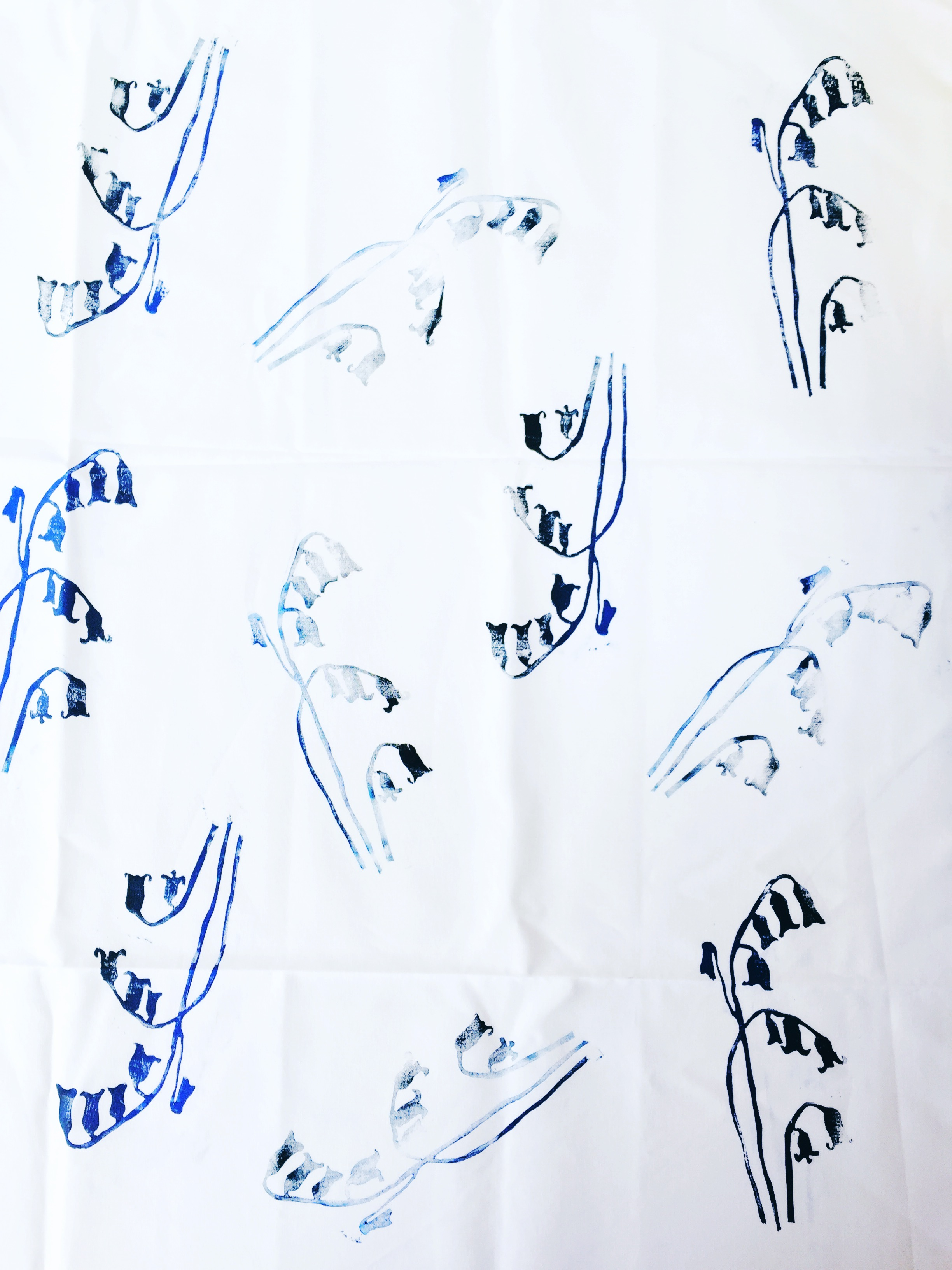 lino printed fabric