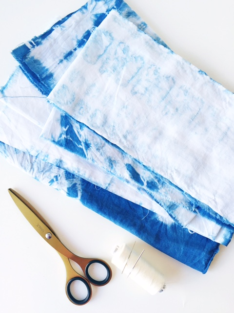 shibori dyed fabric