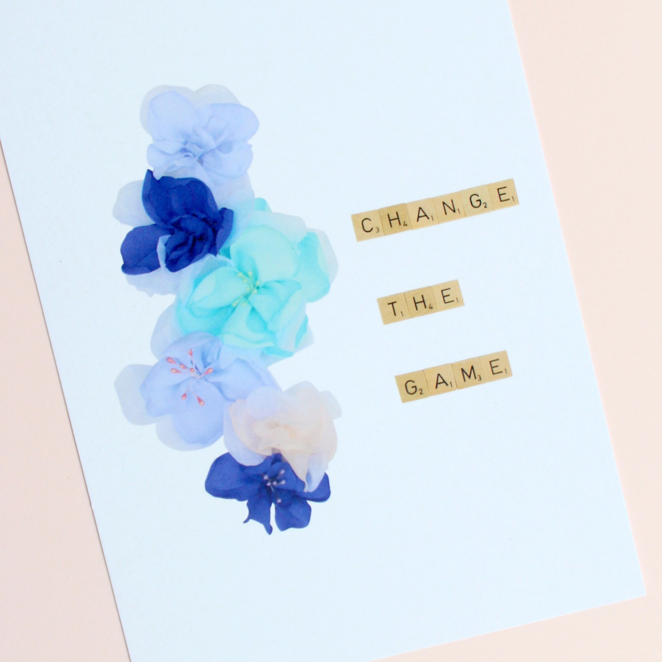 Change the Game Motivational print pink background 2
