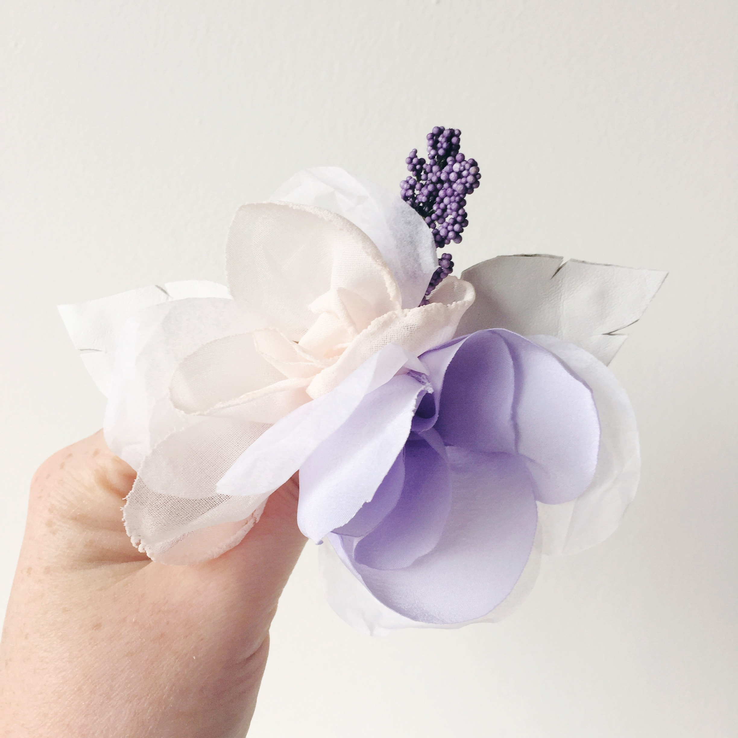 fabric flower cake topper etsy