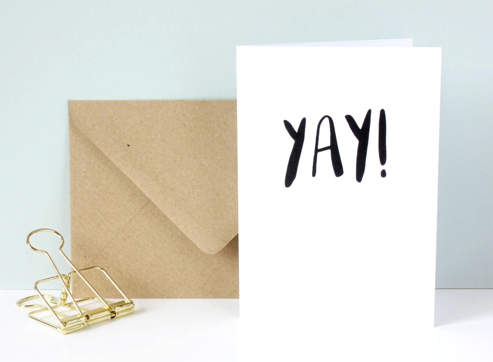 yay! greetings card