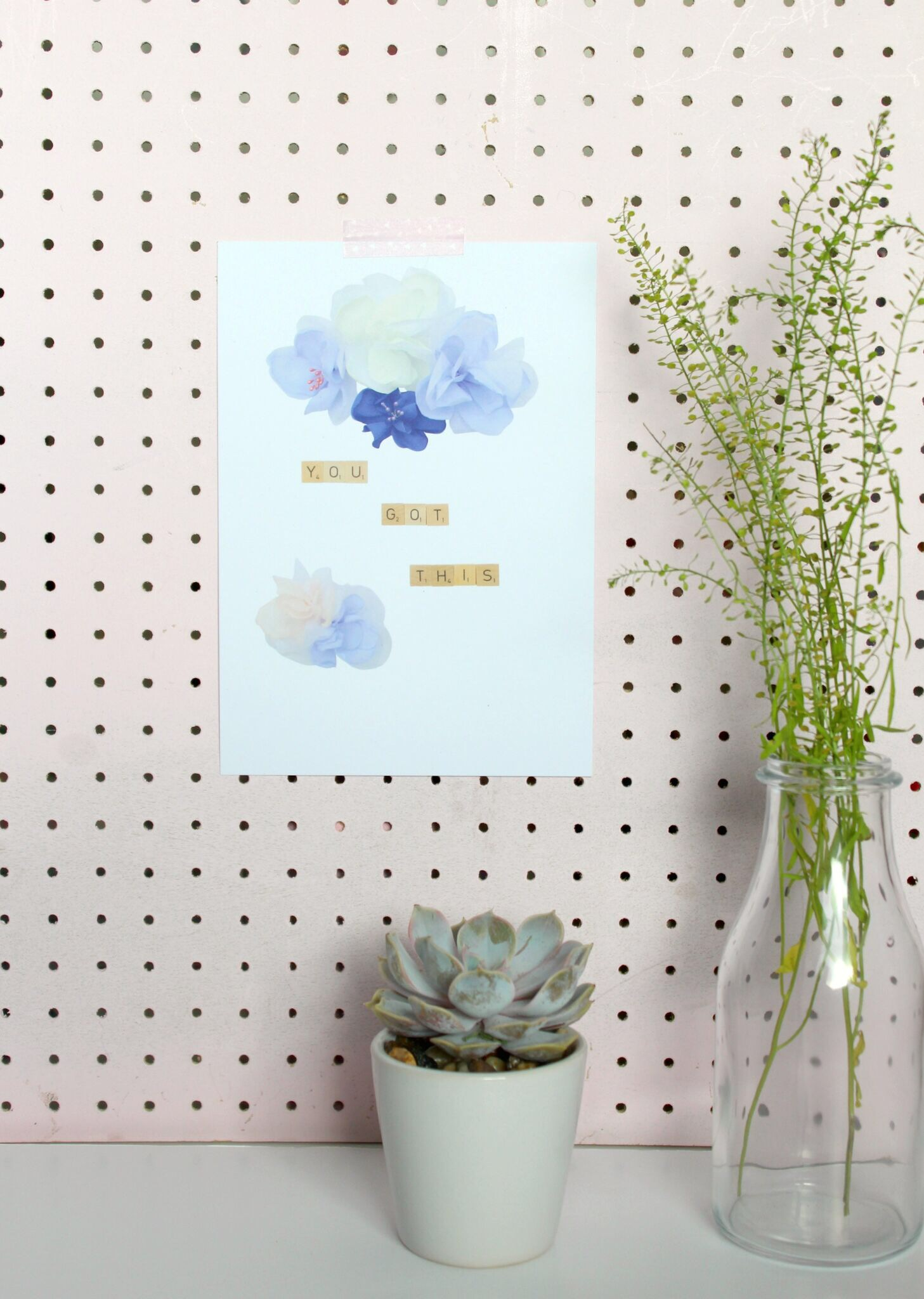 You Got This Motivational print peg board