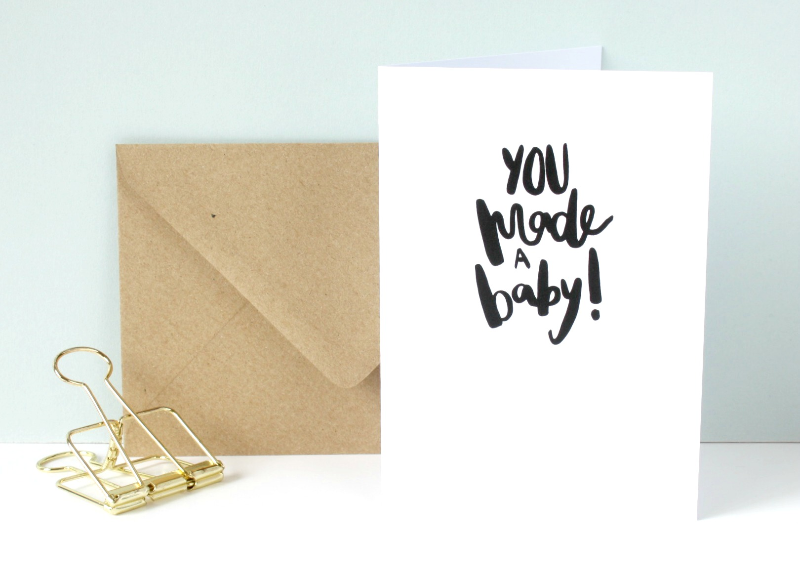 you made a baby greetings card