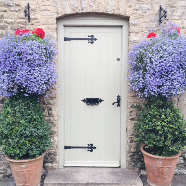 doorway stow on the wold, the cotswolds, daphnerosa