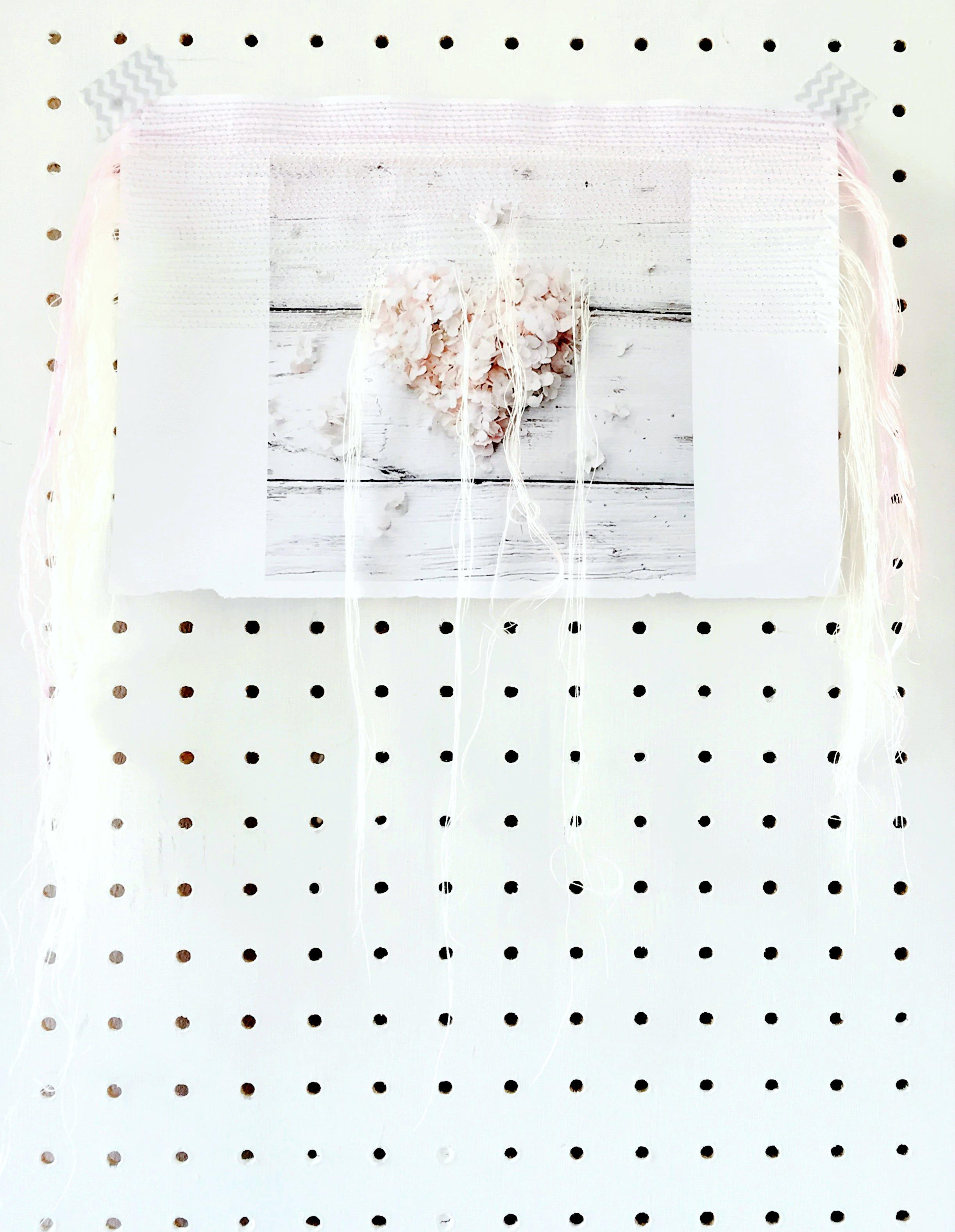 Hannah Argyle stiched hydrangea image pegboard daphnerosa
