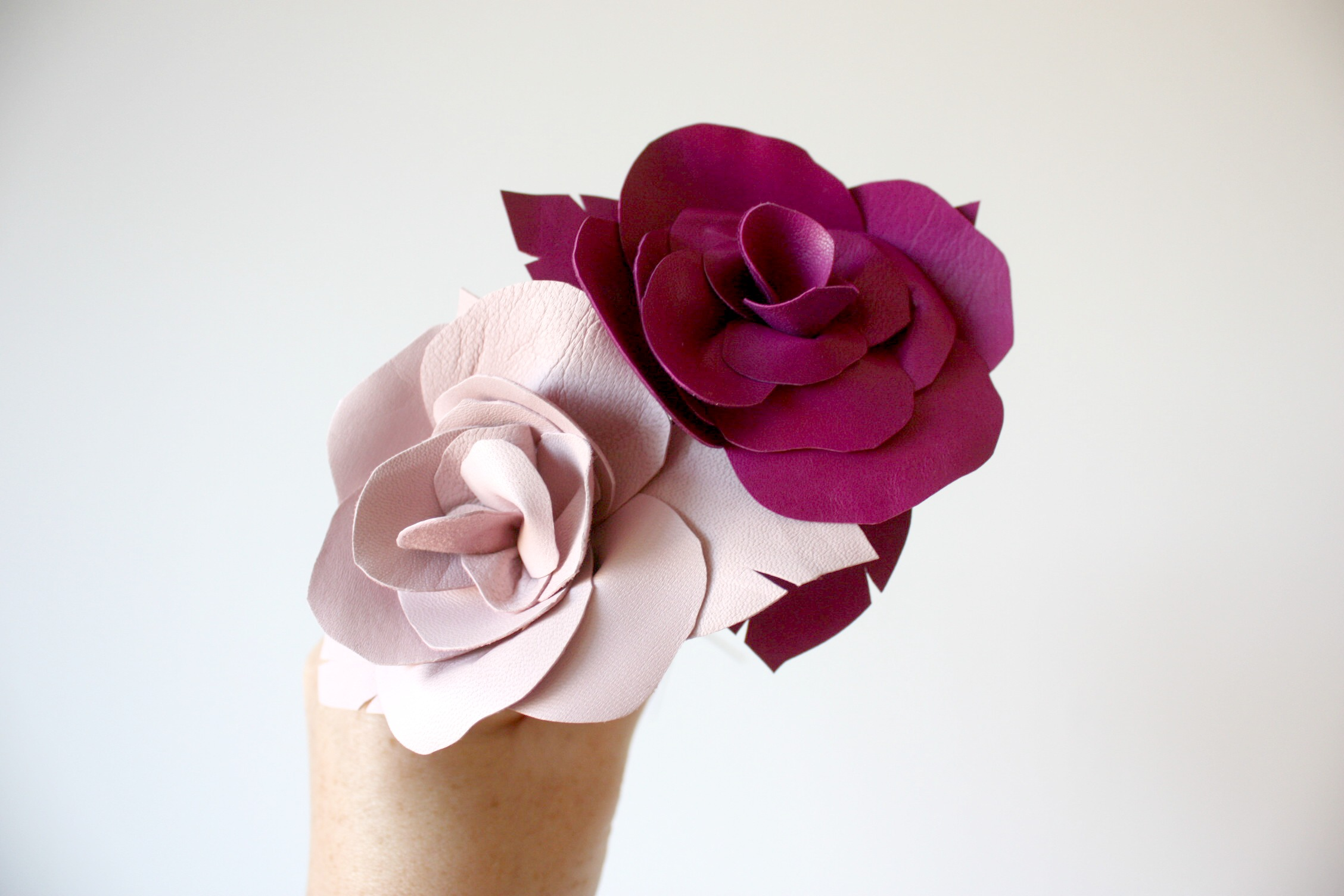pale pink & fuchsia roses