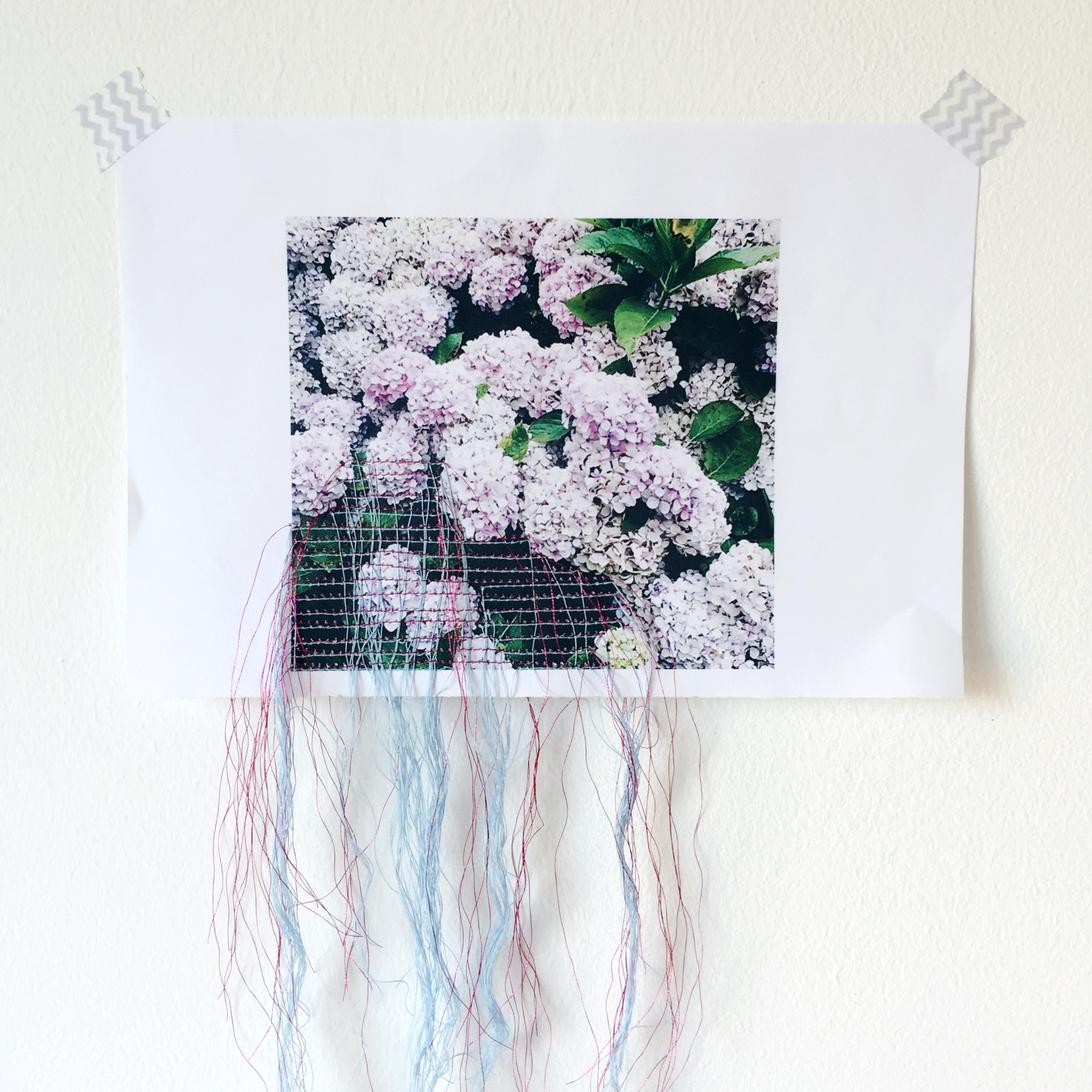 The Loveyl Drawer stiched hydrangea image wall daphnerosa